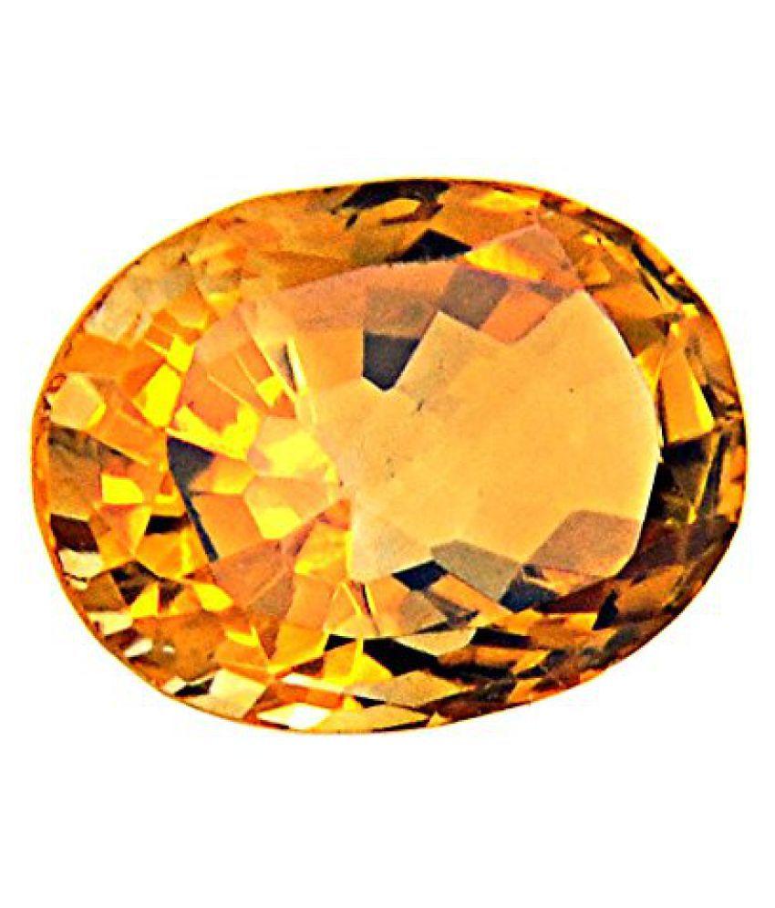 Citrine (Sunhela) Certified Natural Gemstone 6.52 Carat/ 7.24 Ratti