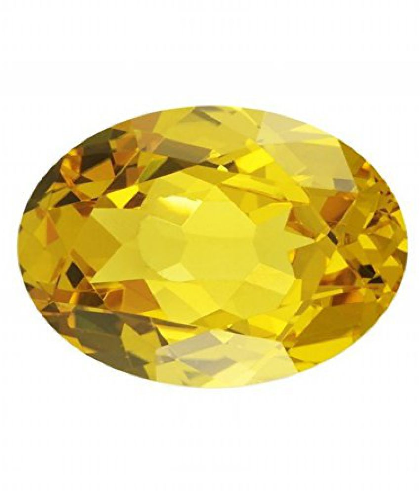 Cultured YELLOW SAPPHIRE / PUKHRAJ / GURU of 11.25- 11.5 RATTI Loose Gemstone