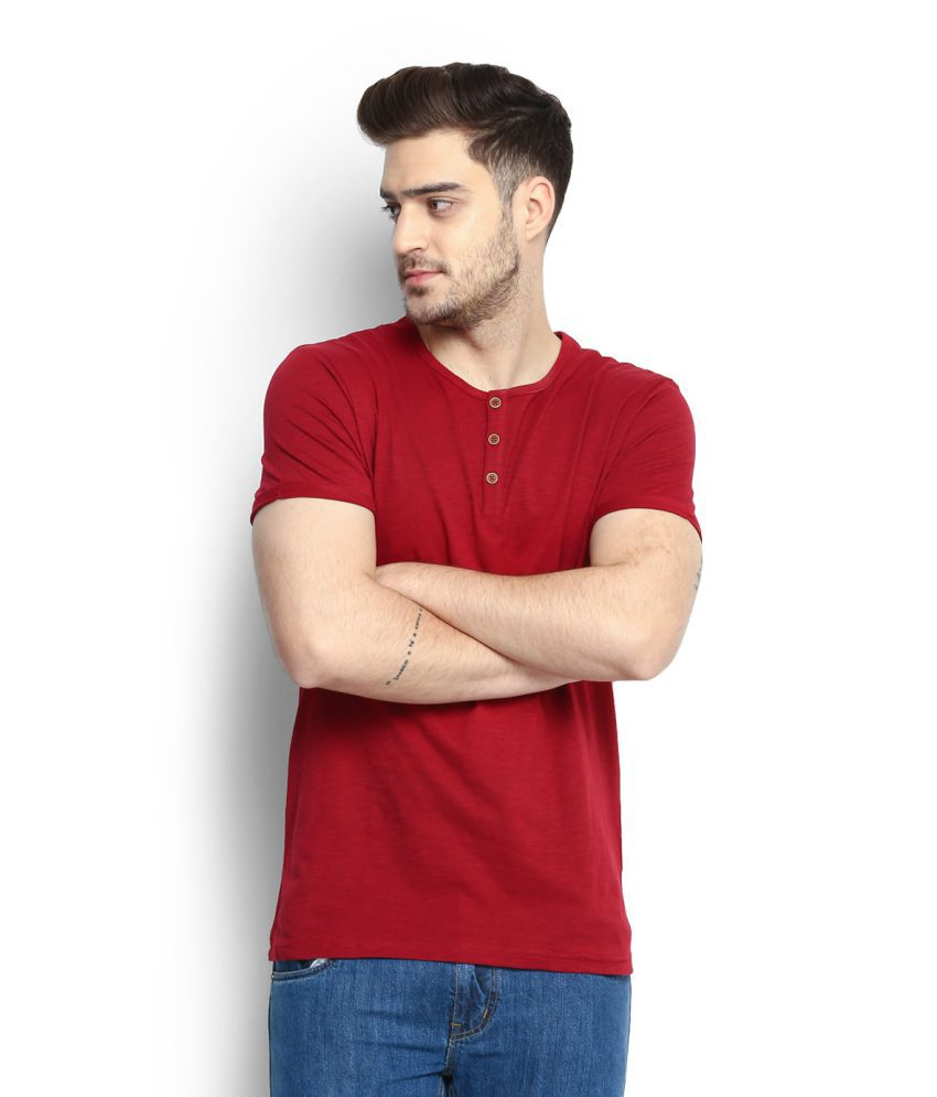 People Red Henley T-Shirt