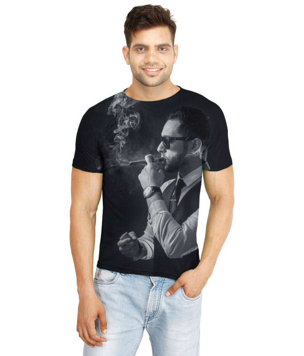 Atheno Black Polyester T-Shirt Single Pack