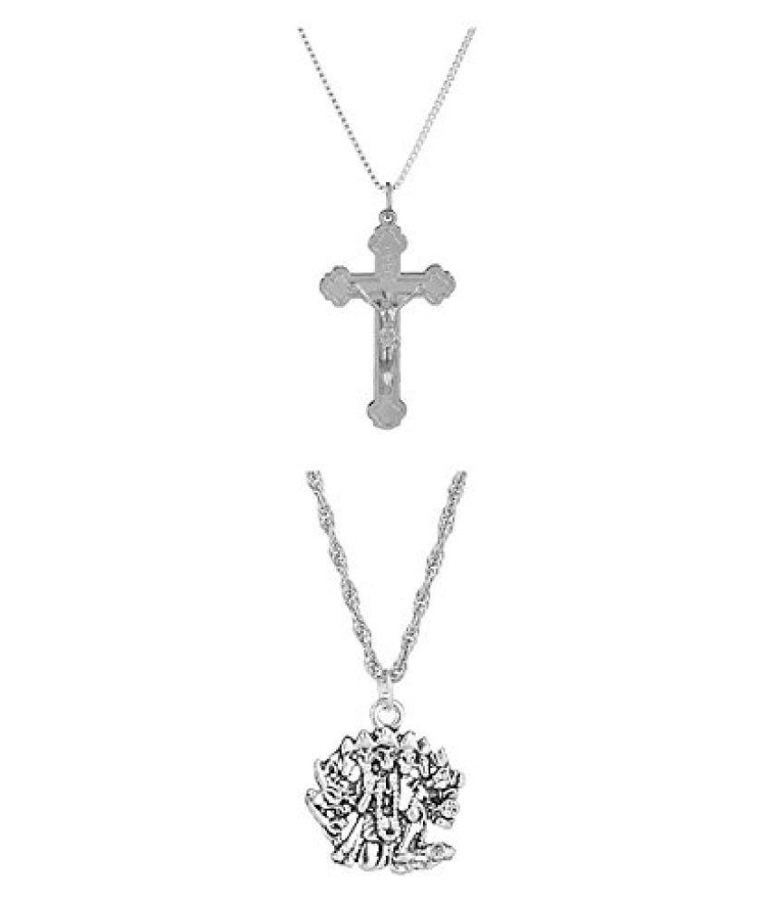 Voylla Combo Of 2 Religious Pendant With Chain