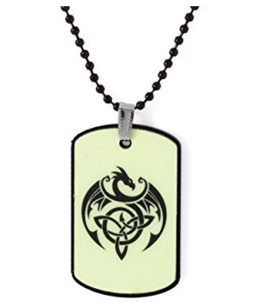 Voylla Dragon Pendant With Chain