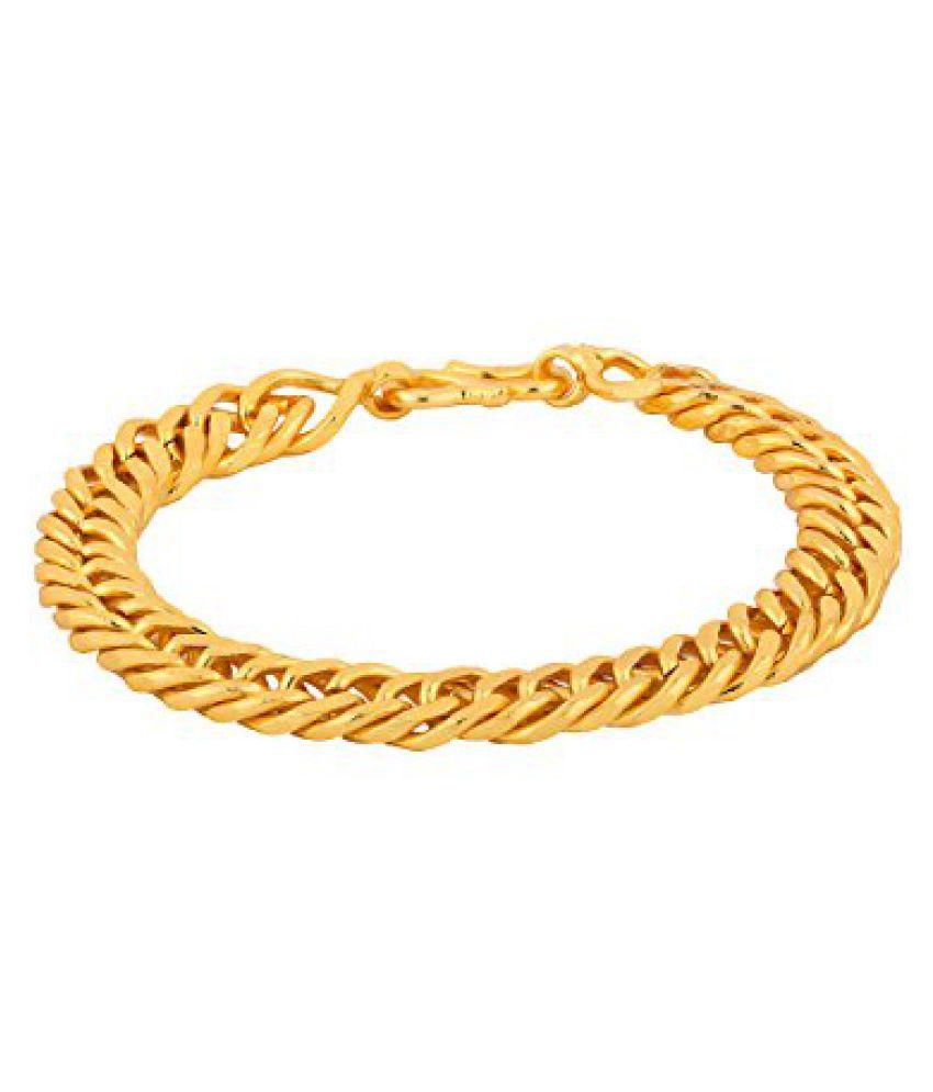 Voylla Fashionable Gold Toned Bracelet For Men