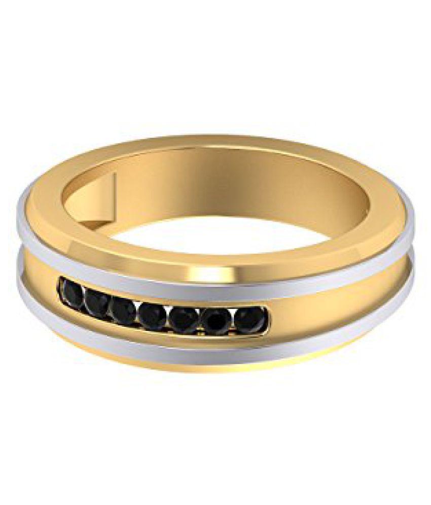 Voylla Sterling Silver Black CZ Embellished Ring in Sterling Silver