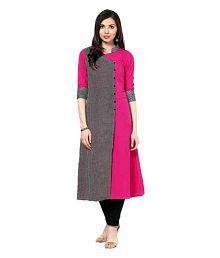Urbane Woman Multicoloured Crepe Front Slit Kurti