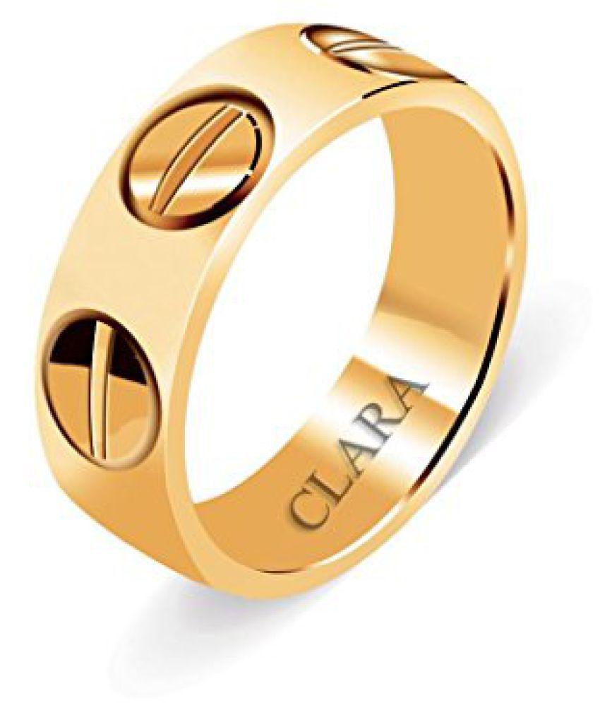 Clara Three Screw Sterling Silver Ring For Men