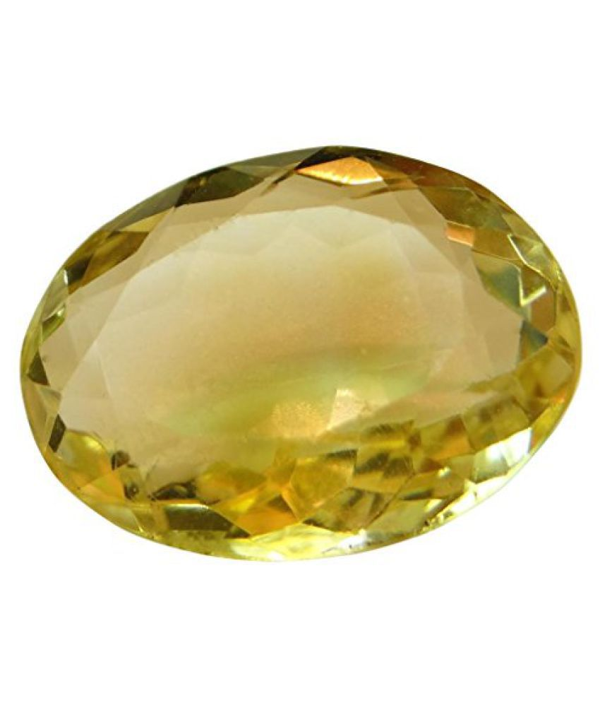 Arihants 8.43 ct. / 9.36 Ratti Natural & Certified CITRINE (SUNHELLA) GEMSTONE