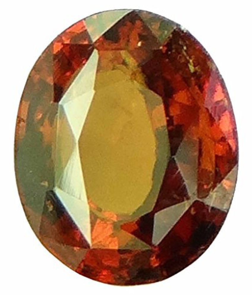 HESSONITE GARNET 4.65 ct. / 5.17 Ratti NATURAL & GJSPC CERTIFIED HESSONITE GARNET (Gomed) ASTROLOGICAL BIRTHSTONE By ARIHANT GEMS AND JEWELS
