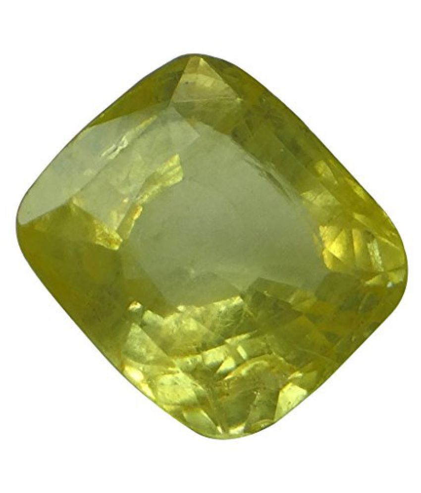 IGI CERTIFIED LOOSE 100% NATURAL 6.25 ct. YELLOW SAPPHIRE BIRTHSTONE BY ARIHANT GEMS & JEWELS BY ARIHANT...