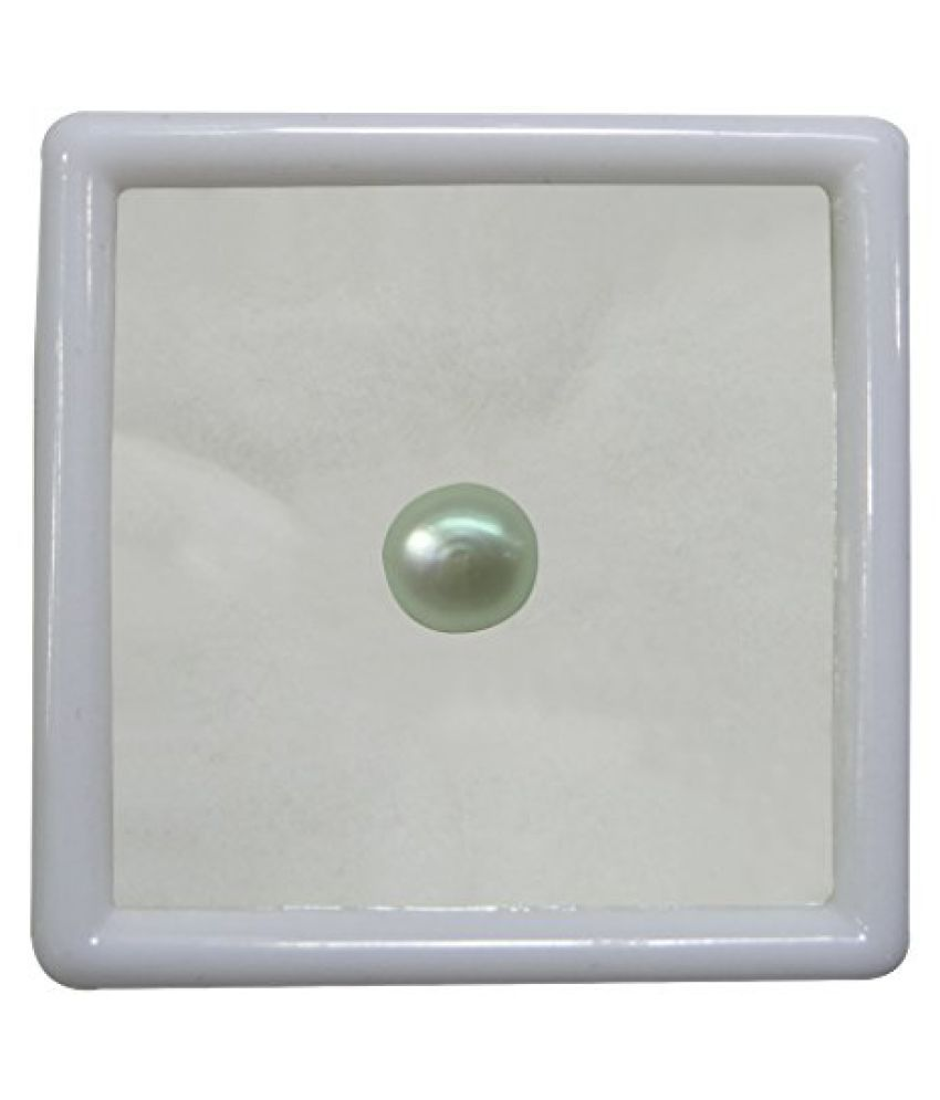 PEARL 6.51 ct. / 7.23 Ratti PURE & IIGS CERTIFIED PEARL (MOTI) ASTROLOGICAL GEMSTONE BY ARIHANT GEMS AND JEWELS