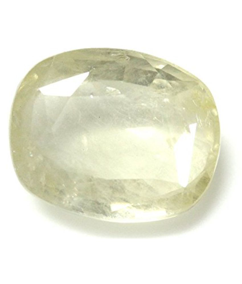 PUKHRAJ LOOSE 100% NATURAL & CERTIFIED 8.36 ct. YELLOW SAPPHIRE BIRTHSTONE BY ARIHANT GEMS AND JEWELS