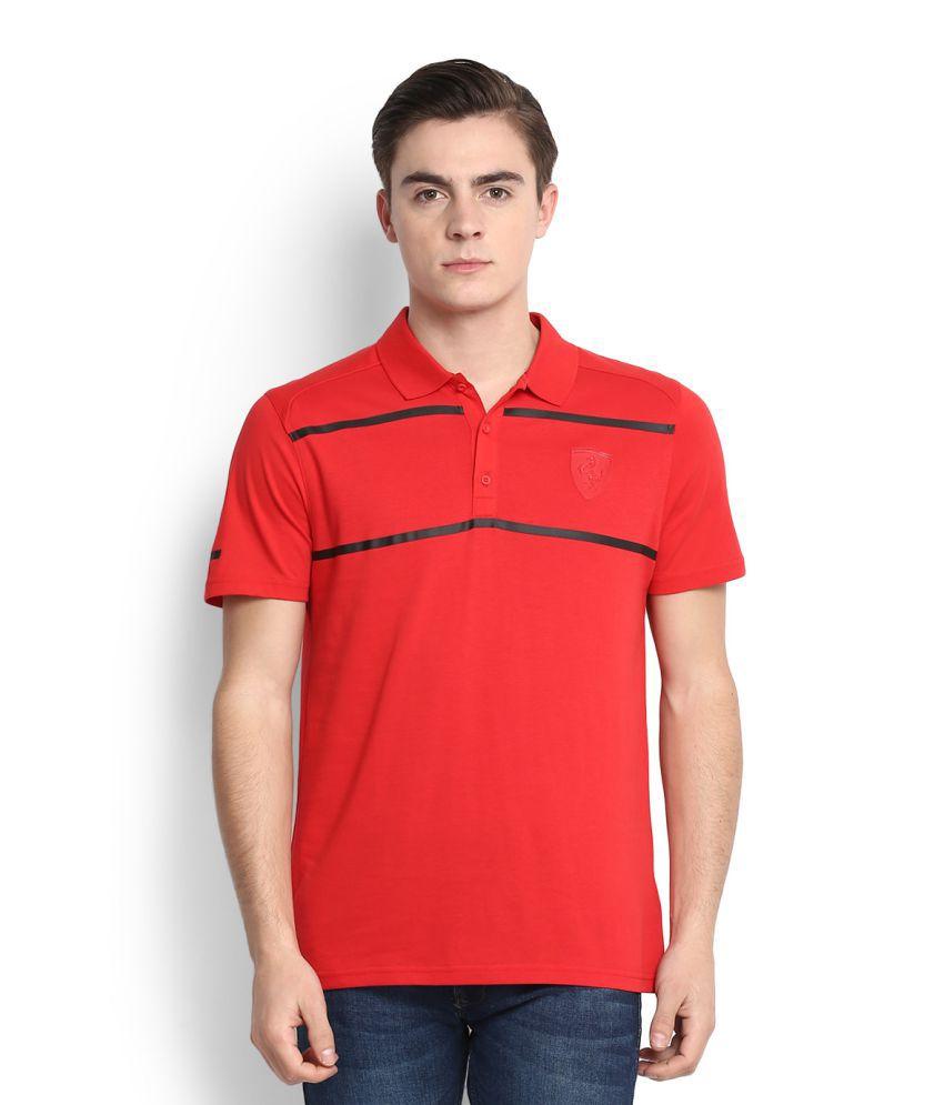 Puma Red High Neck T-Shirt