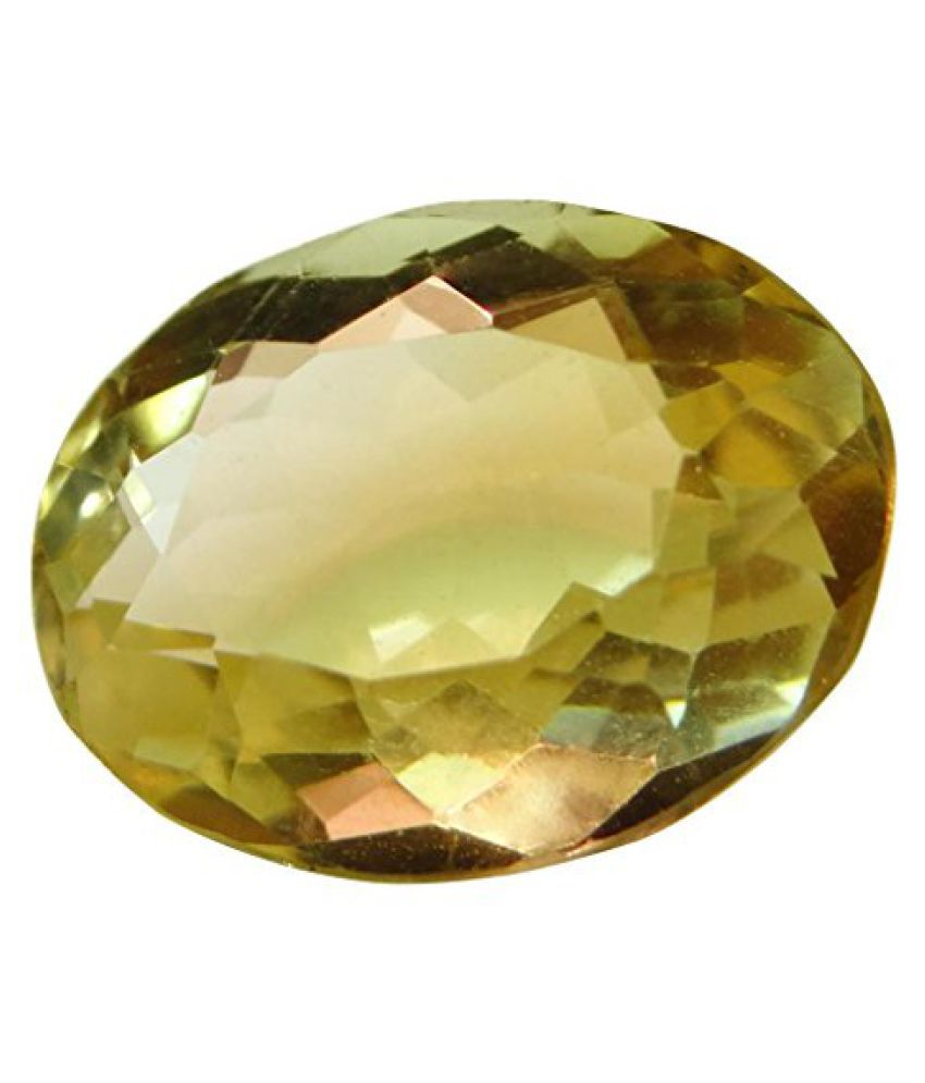 5.65 ct. / 6.27 Ratti Natural & Certified CITRINE (SUNHELLA) BIRTHSTONE BY ARIHANT GEMS & JEWELS BY ARIH...
