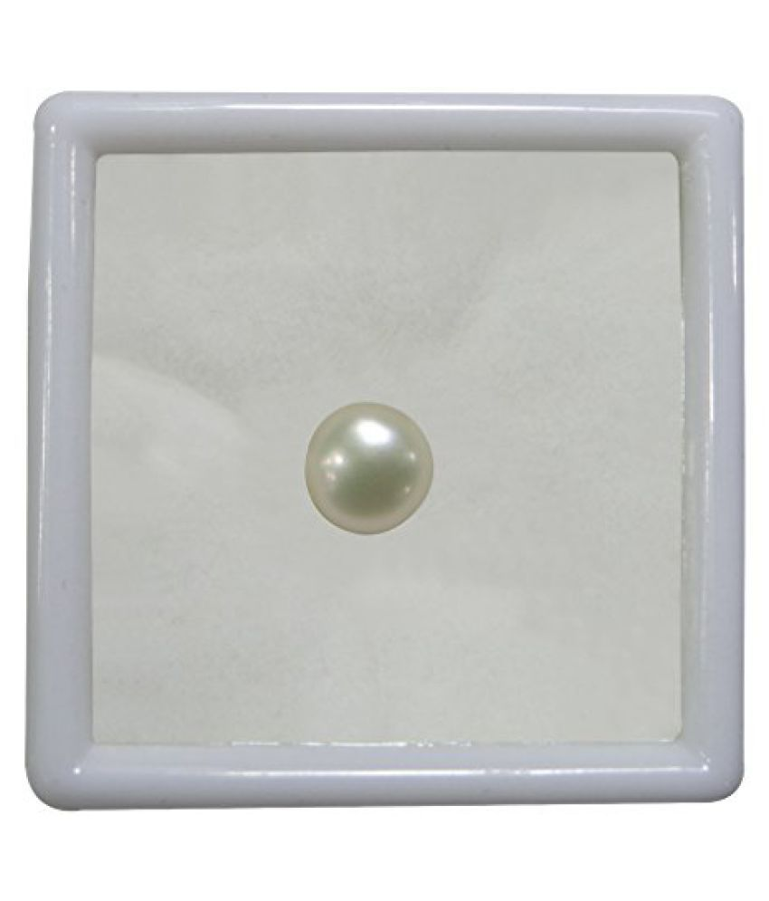 PEARL 4.80 ct. / 5.33 Ratti PURE & IIGS CERTIFIED PEARL (MOTI) ASTROLOGICAL GEMSTONE BY ARIHANT GEMS AND JEWELS