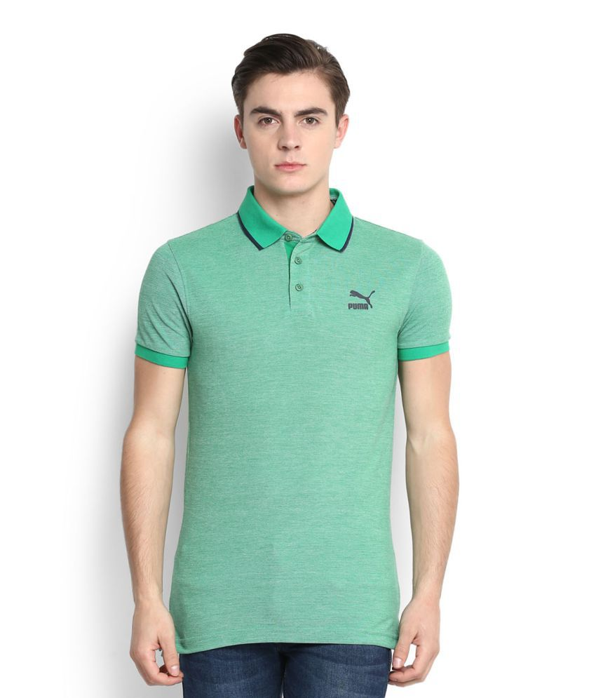 Puma Green High Neck T-Shirt