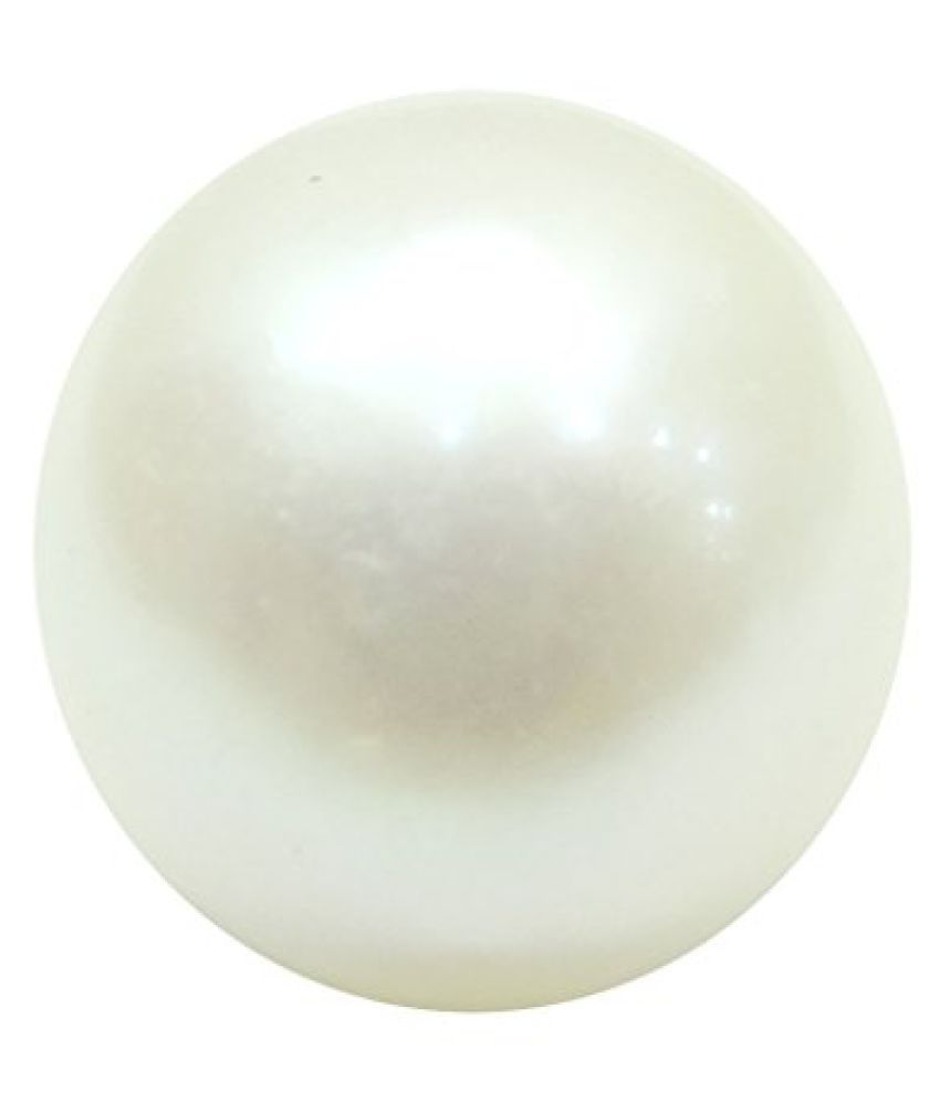 PEARL 7.46 ct. / 8.29 Ratti PURE & IIGS CERTIFIED PEARL (MOTI) ASTROLOGICAL GEMSTONE BY ARIHANT GEMS AND JEWELS