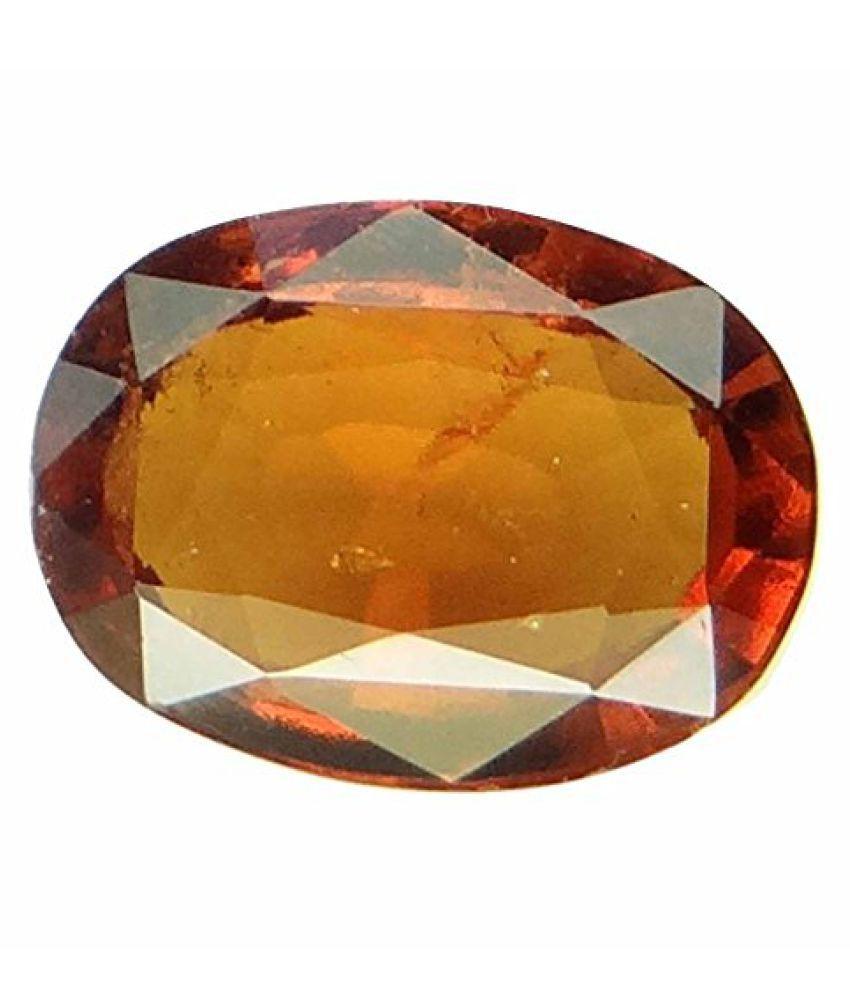 HESSONITE GARNET 11.25 Ratti NATURAL & GJSPC CERTIFIED Hessonite Garnet (Gomed) ASTROLOGICAL BIRTHSTONE BY ARIHANT GEMS AND JEWELS