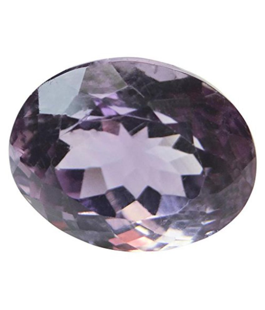 7.06 ct. / 7.84 Ratti Natural & Certified AMETHYST (KATHELA) BIRTHSTONE BY ARIHANT GEMS & JEWELS