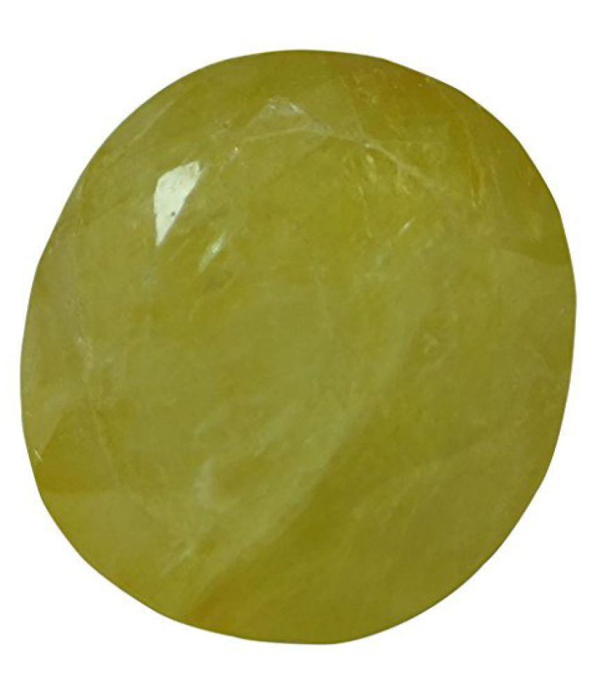 PUKHRAJ 9.09 ct. / 10.1 Ratti Natural & Certified Yellow Sapphire (Pukhraj) GEMSTONE BY ARIHANT GEMS AND JEWELS