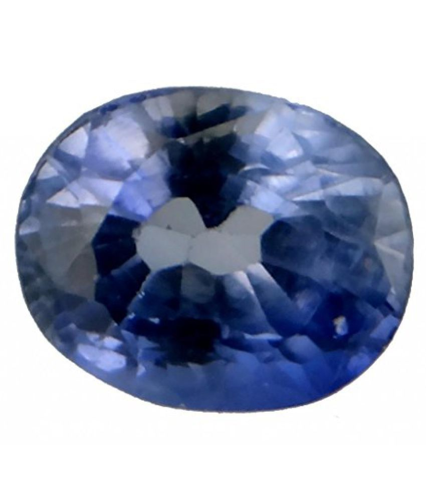 SAPPHIRE CERTIFIED 6.57 ct. SYNTHETIC SAPPHIRE BIRTHSTONE BY ARIHANT GEMS AND JEWELS
