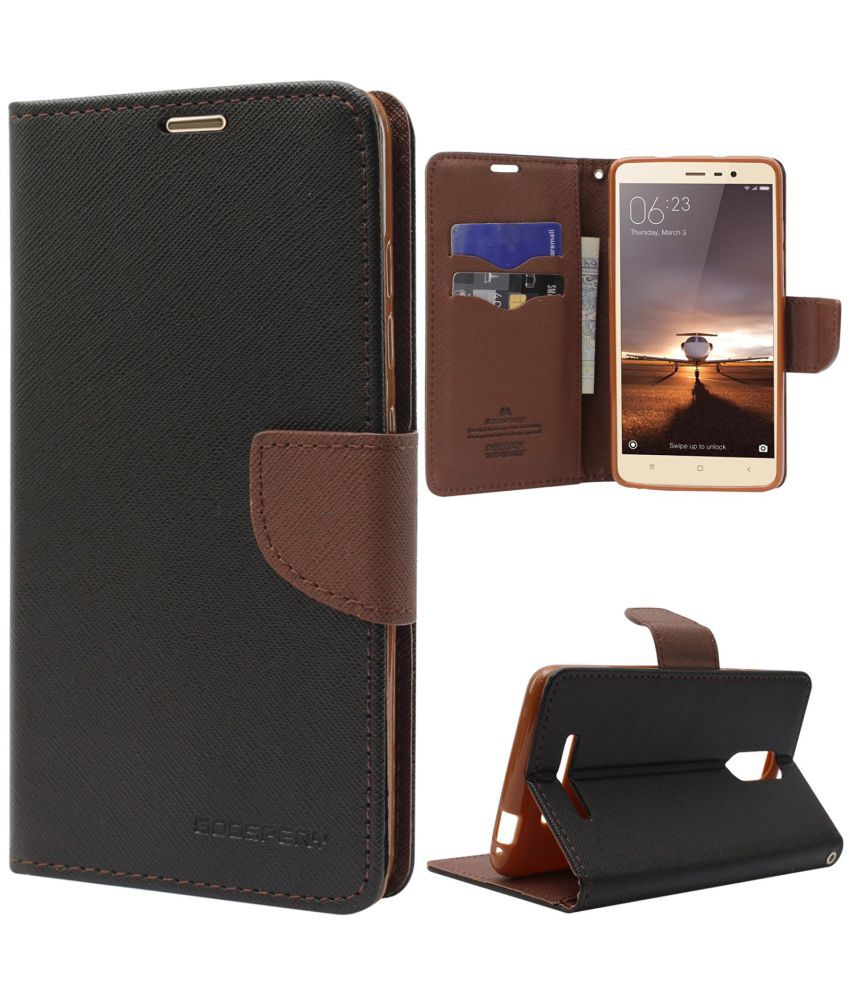 b5a7e788f17 Xiaomi Redmi Note 4 Flip Cover by NI - Brown - Flip Covers Online at Low  Prices