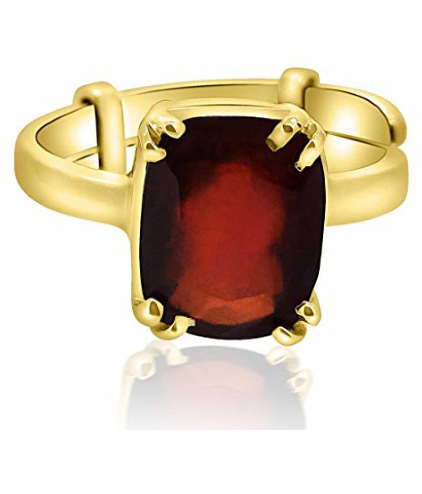 Hessonite Ring 7.25 - 7.50 Ratti NATURAL & GJSPC CERTIFIED Hessonite Garnet (Gomed) ASTROLOGICAL GEMSTONEAdjustable Ashtadhatu RING BY ARIHANT GEMS & JEWELS