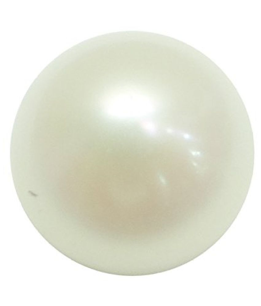 PEARL 7.39 ct. / 8.21 Ratti PURE & IIGS CERTIFIED PEARL (MOTI) ASTROLOGICAL BIRTHSTONE BY ARIHANT GEMS AND JEWELS