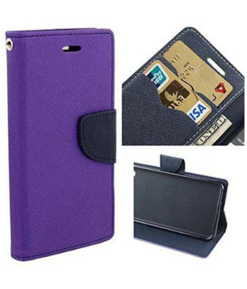 Apple iPhone 5S Flip Cover by Red Plus Mercury - Purple