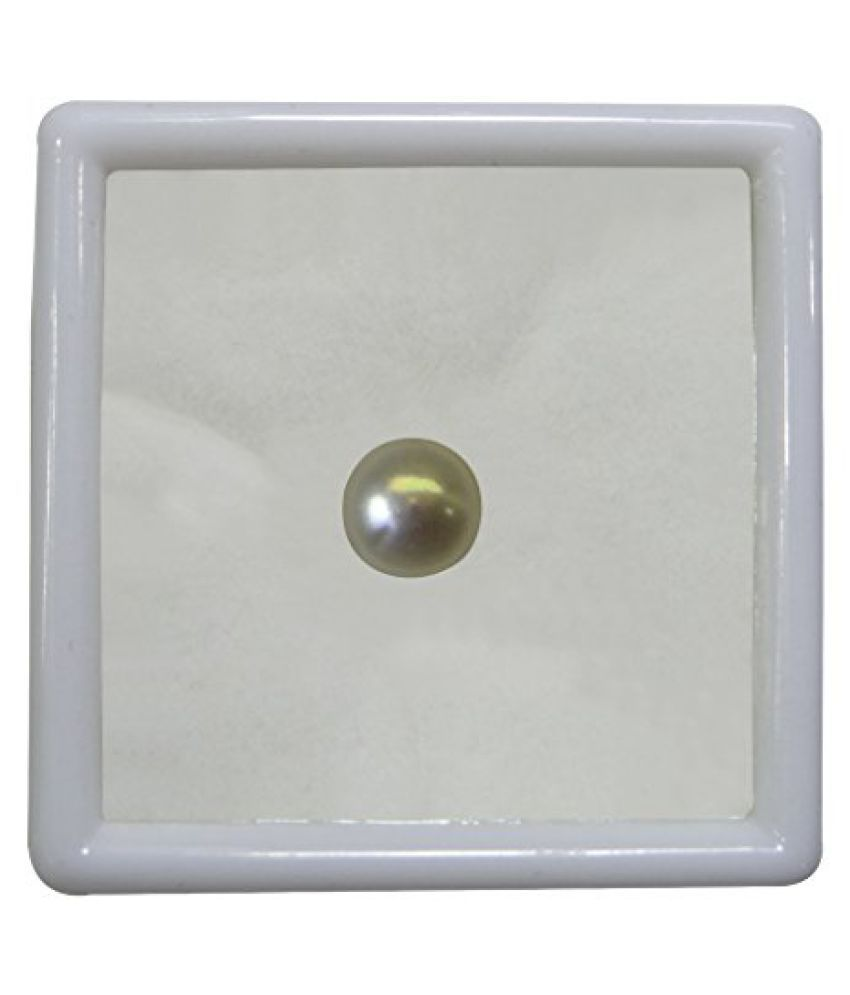 PEARL 5.63 ct. / 6.26 Ratti PURE & IIGS CERTIFIED PEARL (MOTI) ASTROLOGICAL BIRTHSTONE BY ARIHANT GEMS AND JEWELS