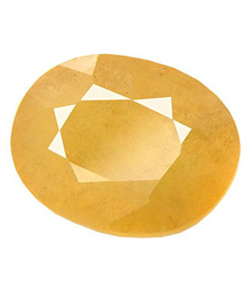 5.25 Ratti Peela Pukhraj Natural Yellow Sapphire Certified