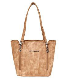 Lino Perros Brown Faux Leather Shoulder Bag - 664149740366