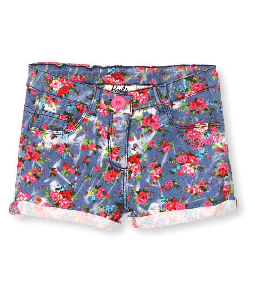 Barbie Multicolour Cotton Blend Hot Pant