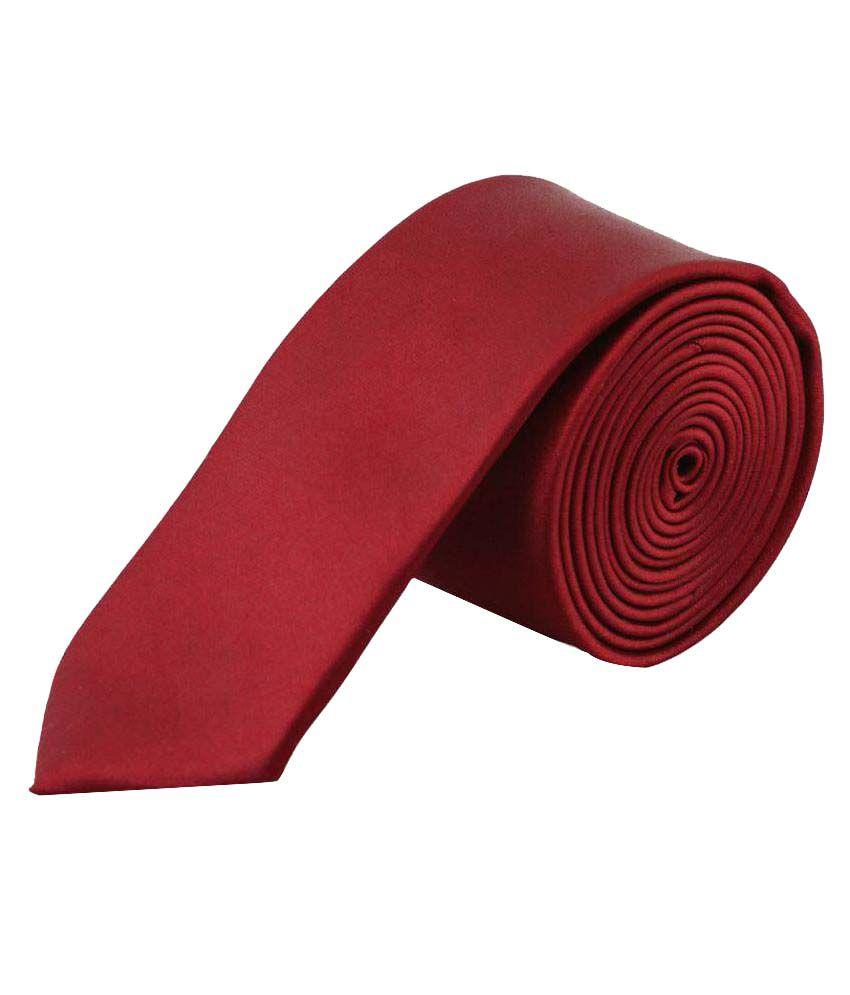 Maruti Tie Maroon Formal Necktie