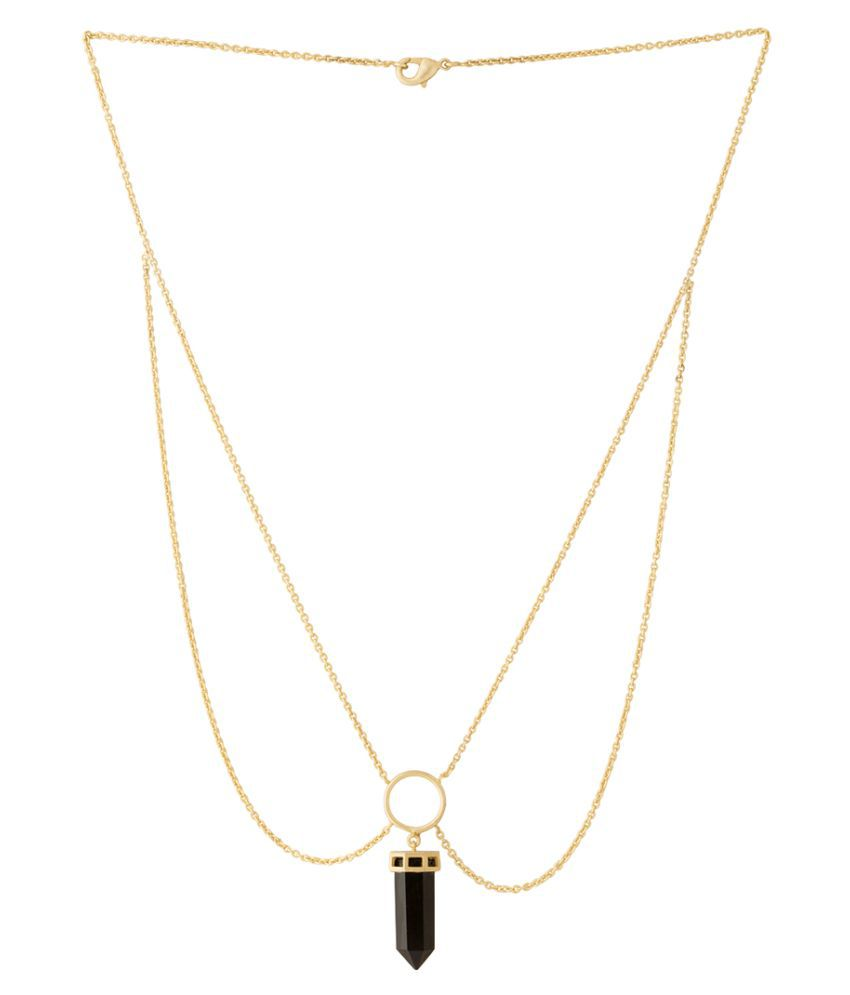 Voylla Necklace In Flash Gold Plating For Women