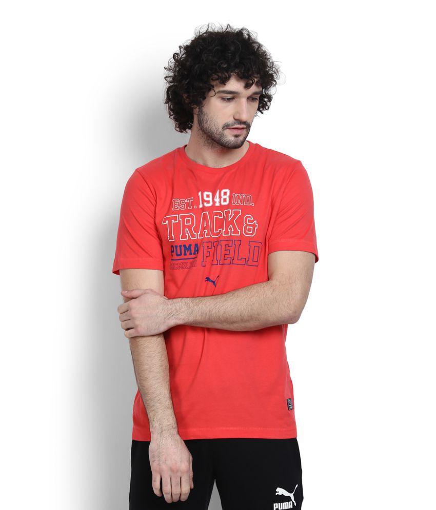 Puma Red Round T-Shirt