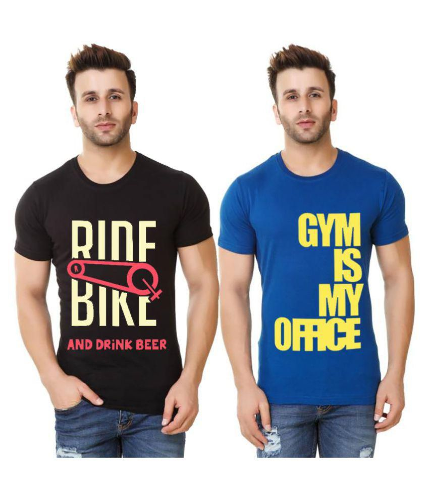 Hotfits Multi Round T-Shirt Pack of 2