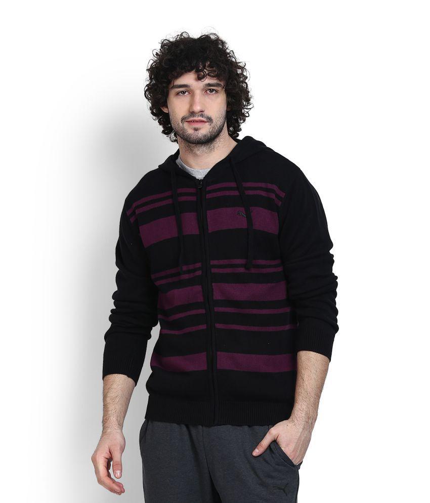 Puma Black V Neck Sweater