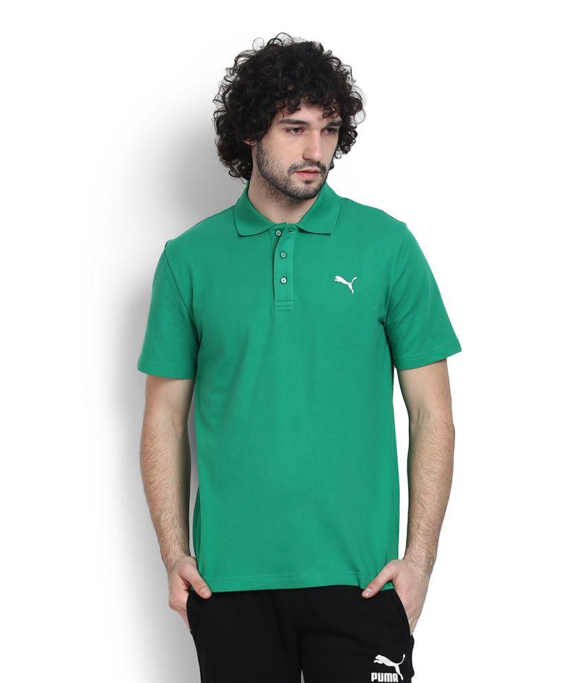 Puma Green High Neck T-Shirt