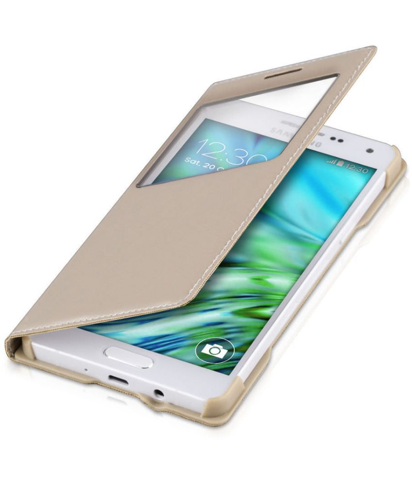 Samsung Galaxy J7 Flip Cover by Coverup - Golden