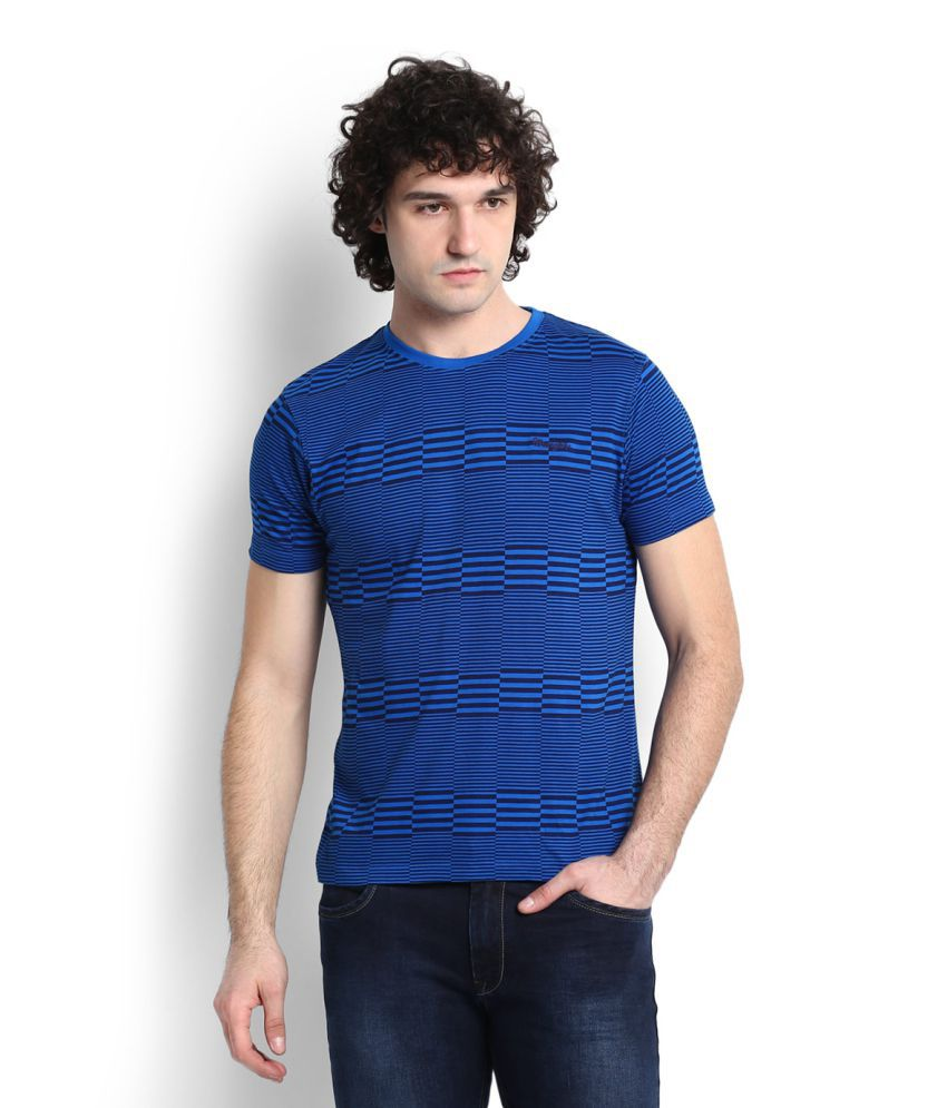 Wrangler Blue Round T-Shirt