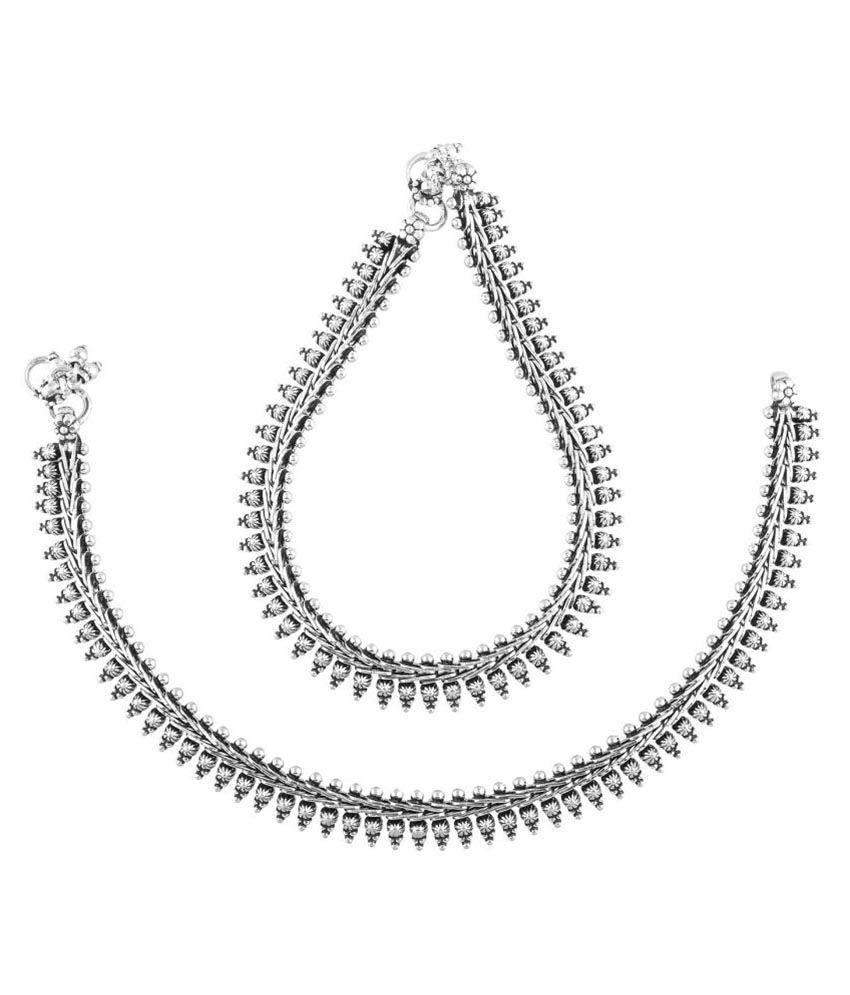Silver Shop Silver Pair of Anklets