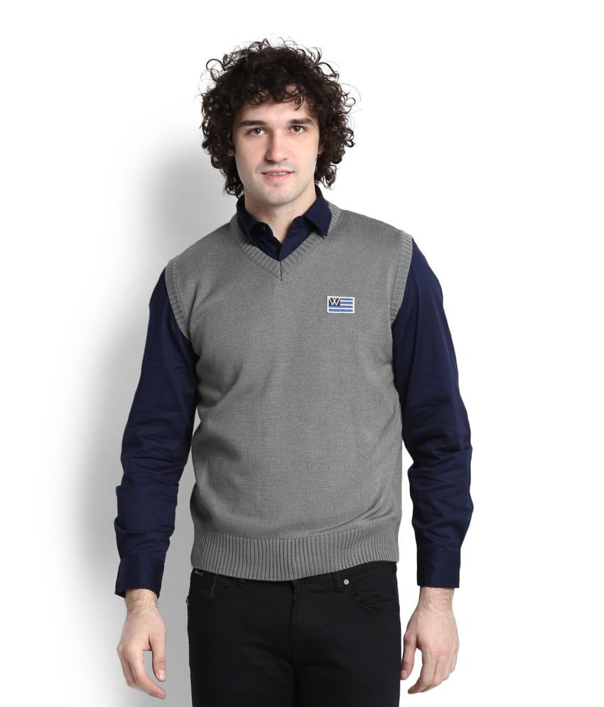 bed49a3f5 Wrangler Grey V Neck Sweater - Buy Wrangler Grey V Neck Sweater Online at  Best Prices in India on Snapdeal