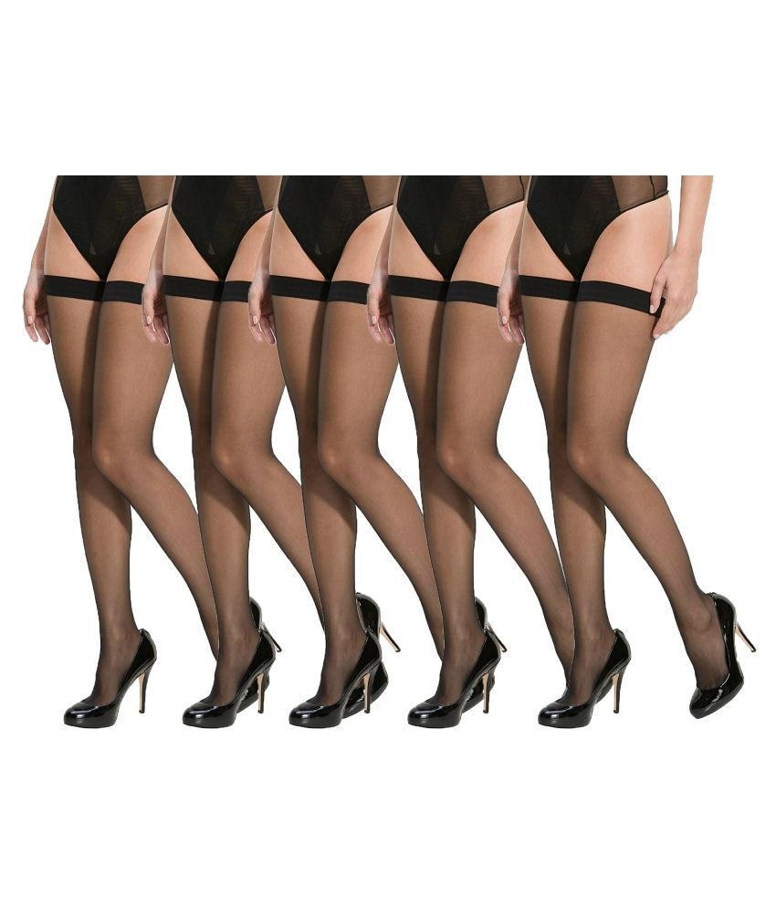 b966b2ec4 SEK Lifestyle Black Colour Nylon Women s Panty Hose Stocking - Pack of 5   Buy Online at Low Price in India - Snapdeal