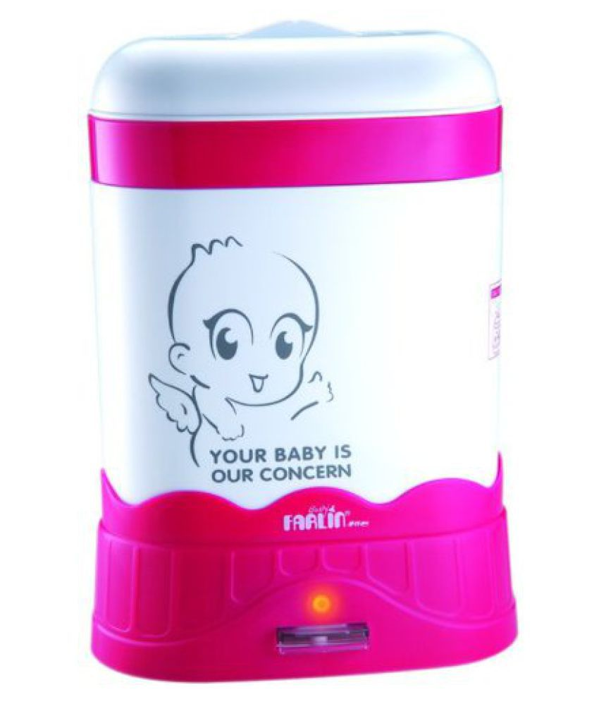 Farlin Auto Steam Sterilizer-3 Bottle (White/Pink)