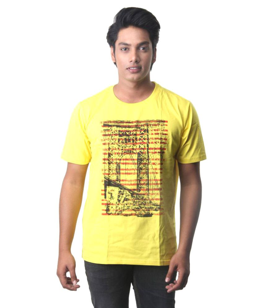 Intouch Yellow Round T-Shirt