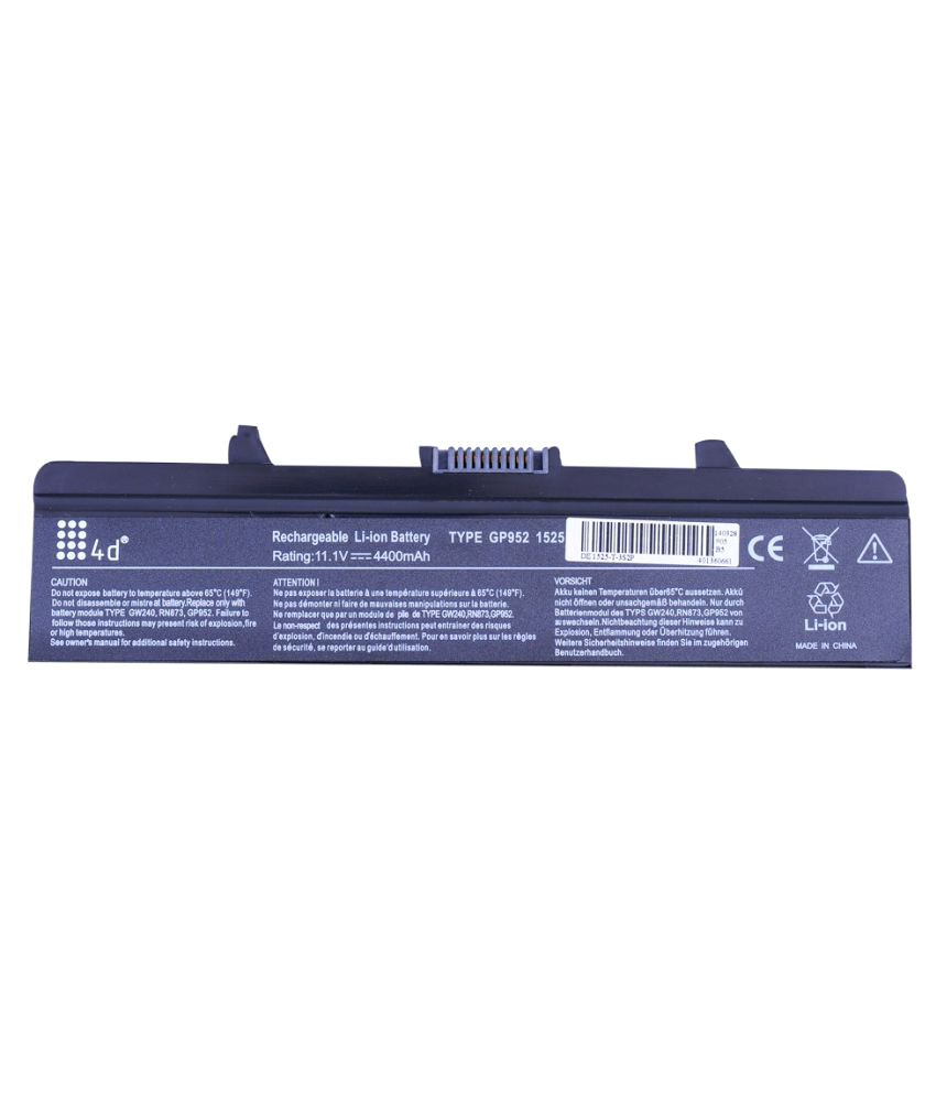 4D Impex Laptop battery Compatible For Dell INSP-451-10533-6CLB