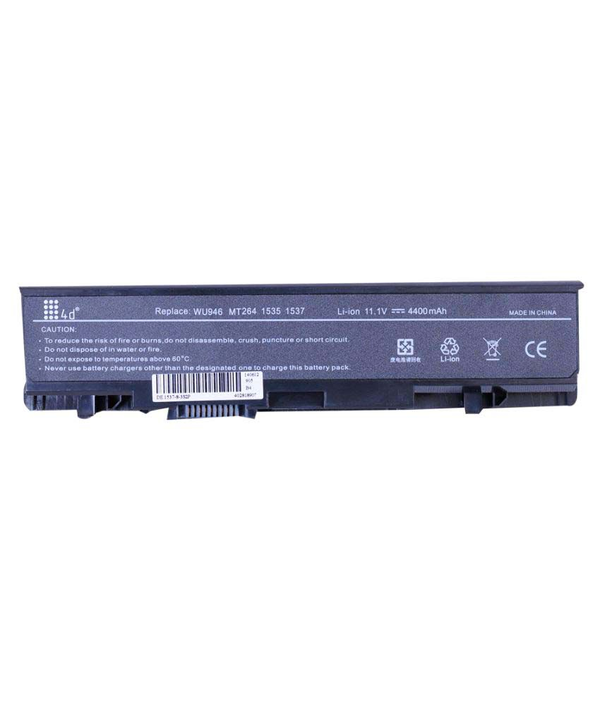 4d Impex Laptop battery Compatible For Dell 4d-DELL-STUD-1555-6CLB