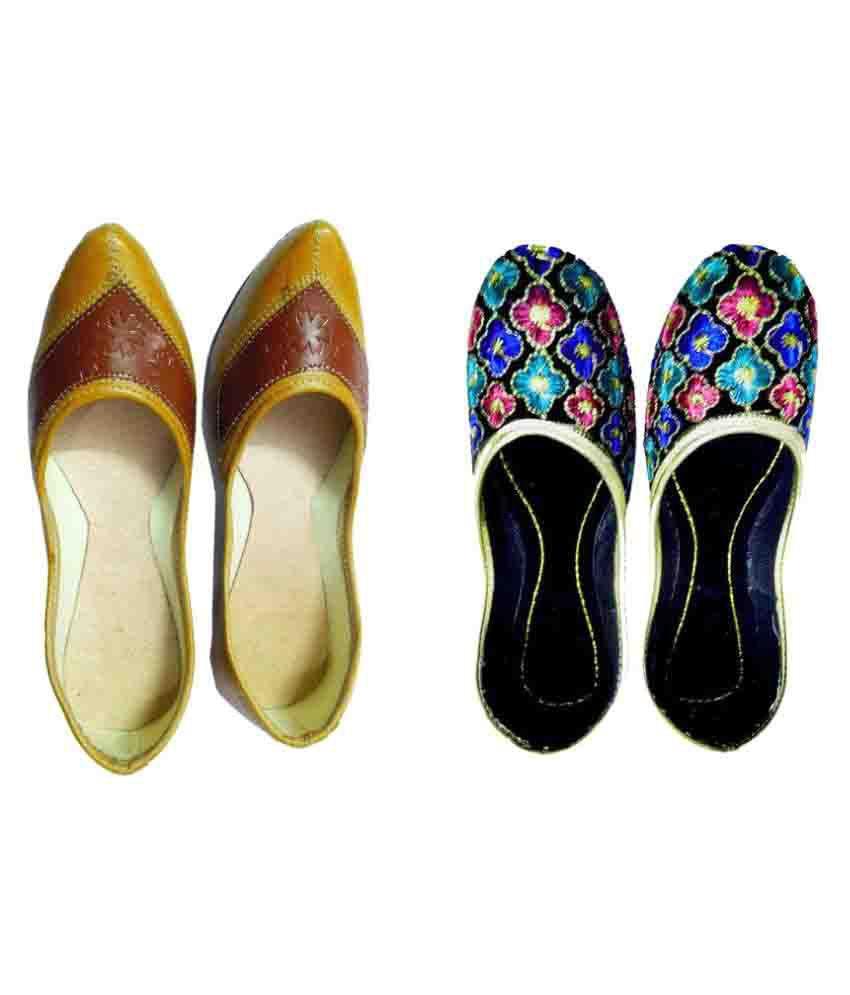 LookUp Designs Multi Color Flat Ethnic Footwear
