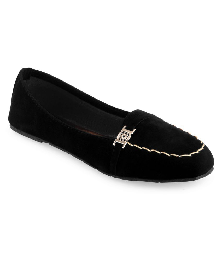 Vaniya Shoes Black Ballerinas free shipping official free shipping new JYxkcC