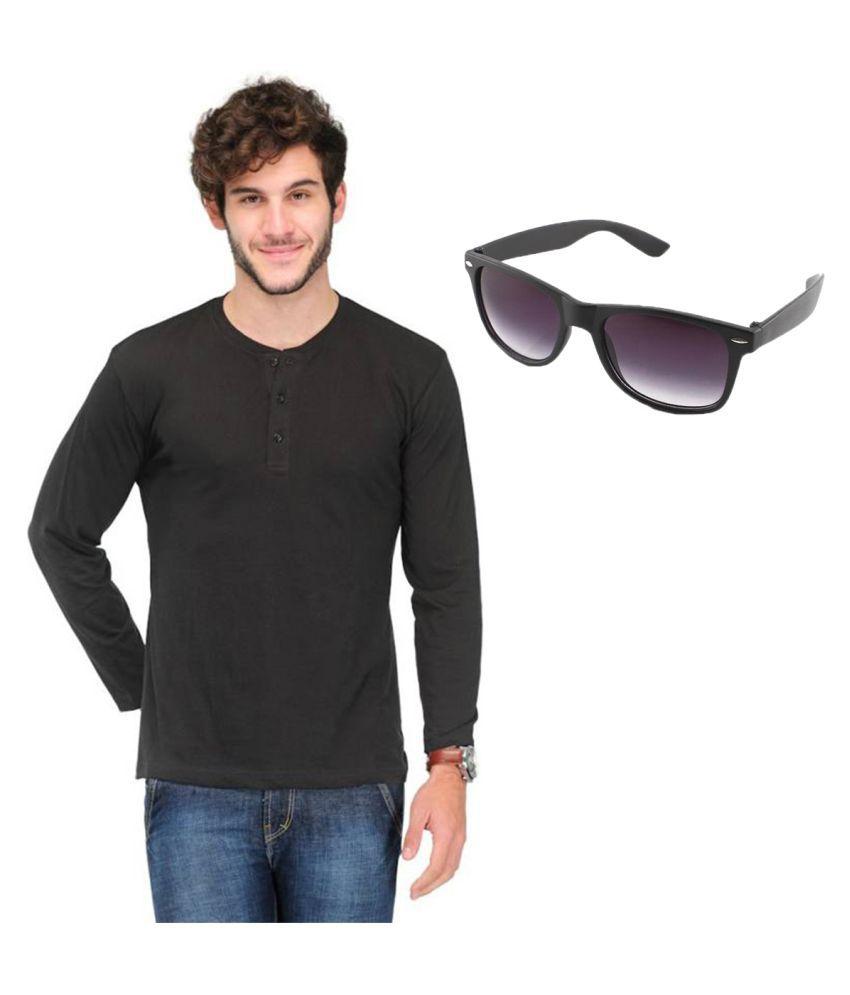Van Galis Black Henley T-Shirt